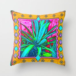 Tropical Foliage Western Style Abstract Throw Pillow
