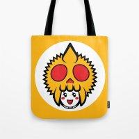 pagan Tote Bags featuring Pagan Mustard by Pagan Holladay