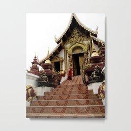 Buddhist Temple - Chiang Mai, Thailand  Metal Print