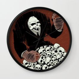 Monkey Skull Suit Wall Clock