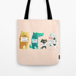 Animal idioms - its a free world Tote Bag