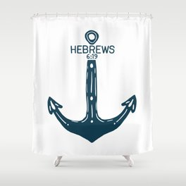Hebrews Anchor Shower Curtain