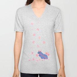 Cherry blossom slug Unisex V-Neck