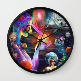 'The Cosmic Internet & The Akashic Records' Wall Clock