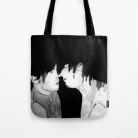 larry Tote Bags featuring Larry by Vidility