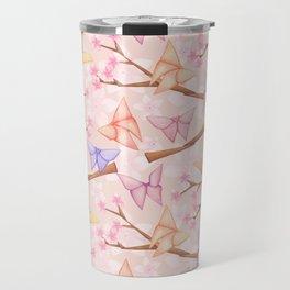 Cherry Blossoms & Butteflies Origami Travel Mug