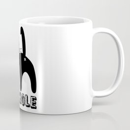 A is for ASSHOLE Cat design grunge font Coffee Mug