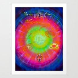 Zodiac sign Libra Art Print