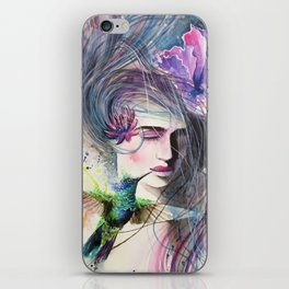 The Hummingbird Kiss iPhone Skin