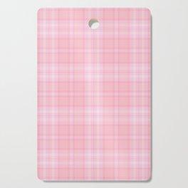 Pink Blush Plaid Pattern Cutting Board