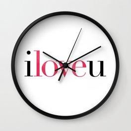 I Love U Wall Clock