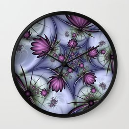 Fractal Fantasy Butterflies Wall Clock
