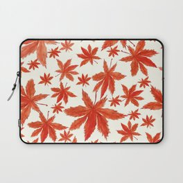 red maple leaves pattern Laptop Sleeve