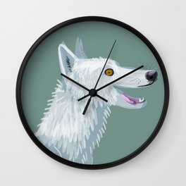 Totem Canadian wolf 1 Wall Clock