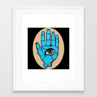 third eye Framed Art Prints featuring third eye by Deerabigale