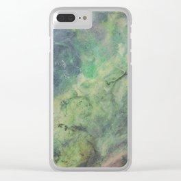 Blue Terrain Clear iPhone Case
