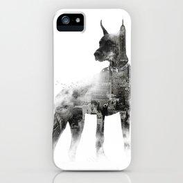 Doberman Pinscher NYC Skyline iPhone Case