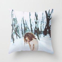 Pale as snow Throw Pillow