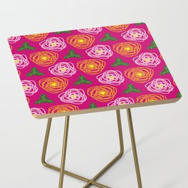 Bright pink floral Side Table