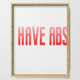 "Perfect Gift For Anti-Social Nerds Saying ""I Have Abs They're Just Shy!""T-shirt Summerbody Beachbody Serving Tray"