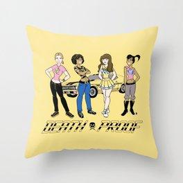Sat. Morning Death Proof Throw Pillow