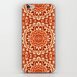 Southwestern Sun Mandala Batik, Coral Orange iPhone Skin