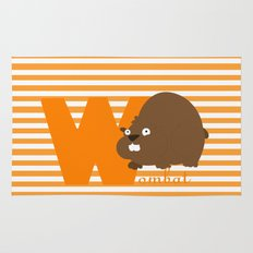 w for wombat Rug