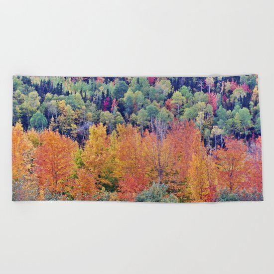 Paint By Nature - Fall Foliage Beach Towel