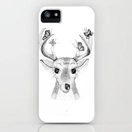 Deer with Butterflies iPhone Case