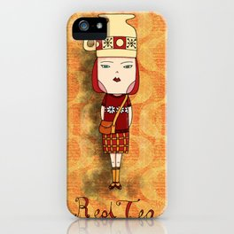 Red Tea Girl iPhone Case