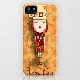 Red Tea Girl iPhone Case
