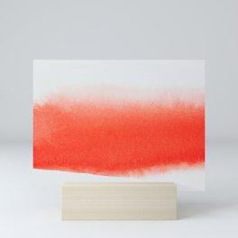 SCARLET CONTRAST STROKE Mini Art Print