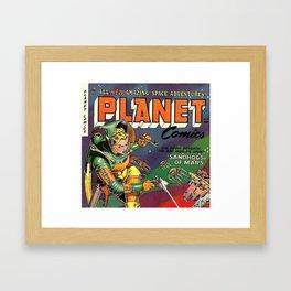 Astronaut Girl Framed Art Print