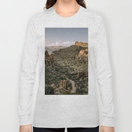 Balanced Rock Valley View in Big Bend - Landscape Photography Long Sleeve T-shirt