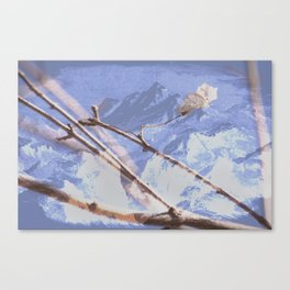 Dreamy Winter Mountain Scene Canvas Print