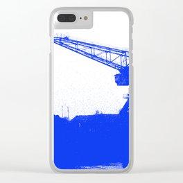 M A N Canal Port Crane Clear iPhone Case