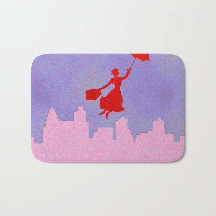 Girlie Miss Poppins  Bath Mat
