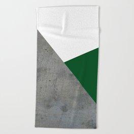 Concrete Festive Green White Beach Towel