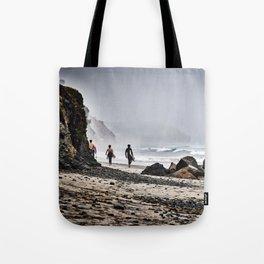 Surfer Boys, Leucadia, California Tote Bag