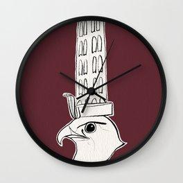 Horus falcon statue Wall Clock