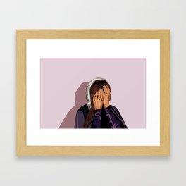 Crying Mary Framed Art Print