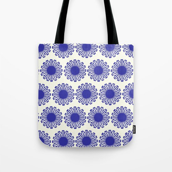 vintage flowers blue  Tote Bag