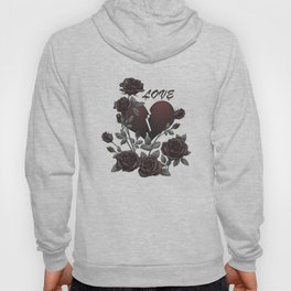 Black Roses Broken Heart Lost Love Hoody