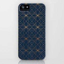 Navy & Copper Geo Lines iPhone Case