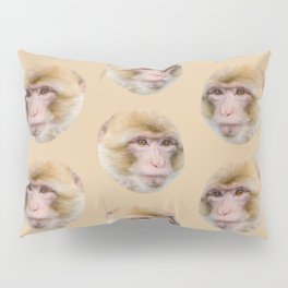 funny cute japanese macaque monkey pattern Pillow Sham