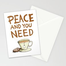 Peace and you need Tea Stationery Cards