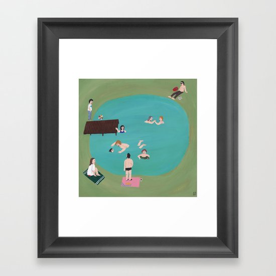 At the Quarry Pond Framed Art Print