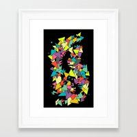 triangles Framed Art Prints featuring Triangles  by AtomicChild