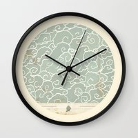 map Wall Clocks featuring Map by Tanya Tish