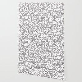 circles 2 - brown and white Wallpaper
